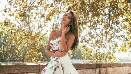 Свадебные платья с цветами и цветочным принтом