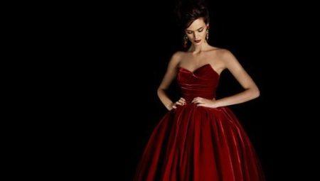Бордовые вечерние платья