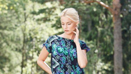 Платье из платков - простой крой и оригинальность