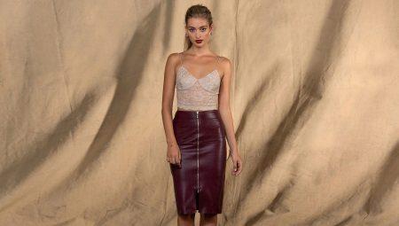 c4d0e92c995 Кожаная юбка карандаш (46 фото)  с чем носить