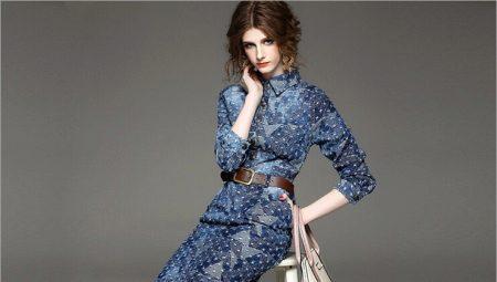 d19acc863be С чем носить джинсовое платье (45 фото)  осенью
