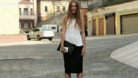 31193fd9b57 Черная юбка карандаш (39 фото)  с чем носить и сочетать