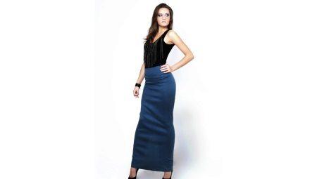 Длинная юбка карандаш