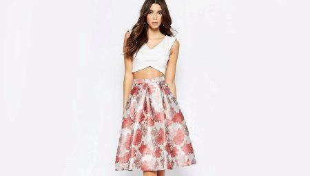 209b76a273b9eb2 Пышная юбка миди (58 фото): с чем носить, вечерние образы, на ...