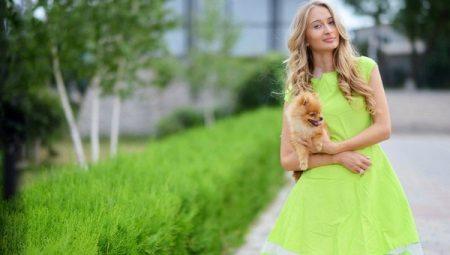Салатовое платье – образ с нотками весенней свежести