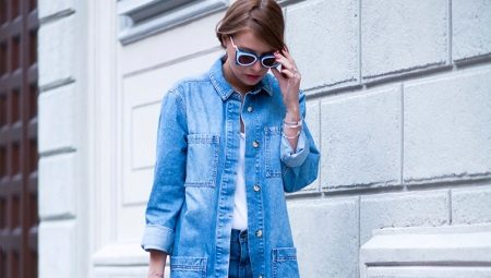 660c4fdef61 Длинные женские джинсовые куртки (37 фото)  с чем носить длинную ...