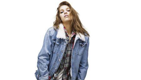 cb5ab9c4e33 Джинсовая куртка с мехом (77 фото)  на искусственном и натуральном ...