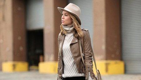 Кожаная женская куртка косуха