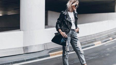 Рваные джинсы-бойфренды