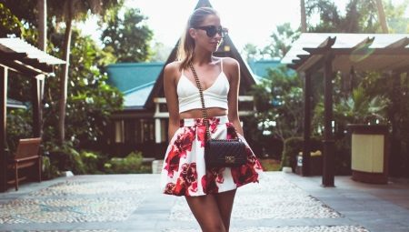 Топ и юбка с завышенной талией