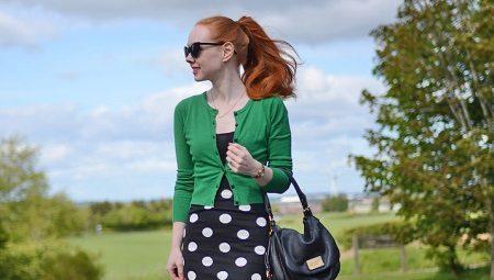 a3c2aef7c45 Юбки в горошек (58 фото)  с чем носить юбки в горох