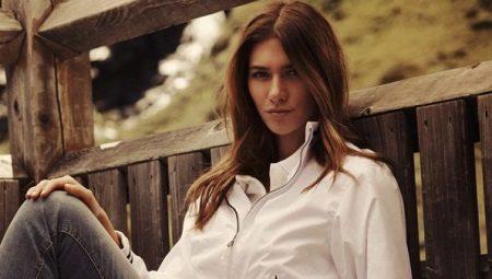 Женская белая легкая куртка