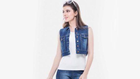 a0ee8381 Джинсовые жилеты и безрукавки (67 фото): женские модели, с чем ...