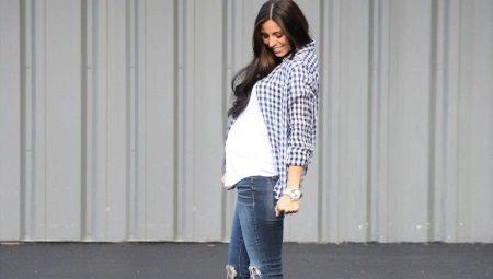 Джинсы для беременных с чем носить фото
