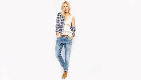 С какой обувью носить джинсы-бойфренды?