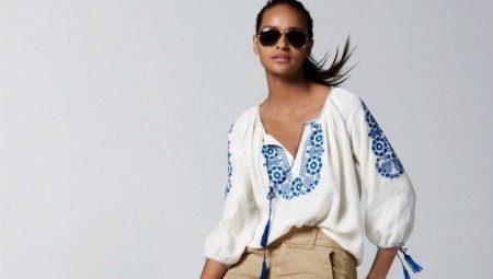 16db478ea8f Блузка-крестьянка (71 фото)  с чем носить блузку в крестьянском ...