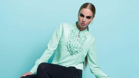 053515f5be0 Блузка с жабо (37 фото)  с чем носить блузу с жабо