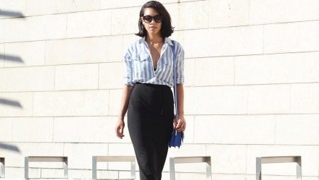 28e87c4cbd94163 Рубашка в полоску женская (130 фото): длинная, голубая, красная, в ...
