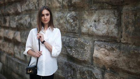 75c0b031ad5 С чем носить белую женскую рубашку (77 фото)  льняную