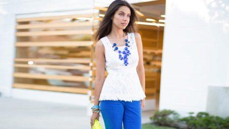 f672aac1818bb1 С чем носить синие брюки 2019 (109 фото): ярко и темно-синие ...