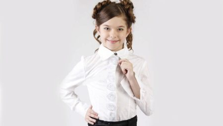 Школьные рубашки для девочек