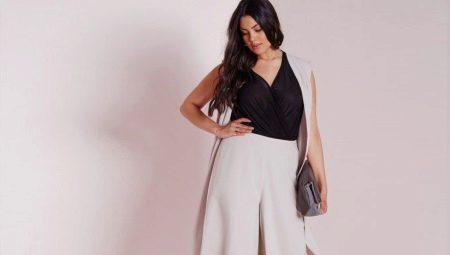 2b8a86b4561 Юбка-брюки для полных женщин 2019 (39 фото)  с чем носить