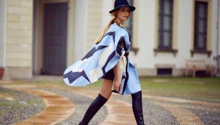 Пальто-пончо - эффектное пальто-накидка