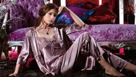 3746384907cc0 Женская шелковая пижама (87 фото): с брюками, с шортиками, пижамы ...