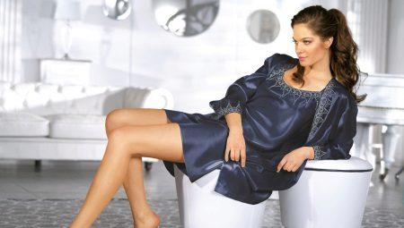Женские пеньюары с халатом