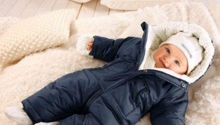 ed2f2cdbc2db Зимний комбинезон для новорожденных (69 фото): комбинезон ...