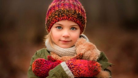детские вязаные шапки 118 фото с ушками и помпоном для ребенка на