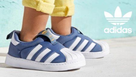 Детские кроссовки Адидас (70 фото)  белые кожаные модели суперстар ... cac973cda47