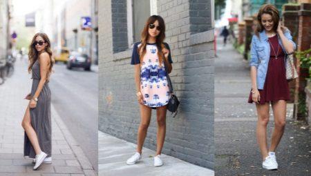 Как носить платье с кроссовками?