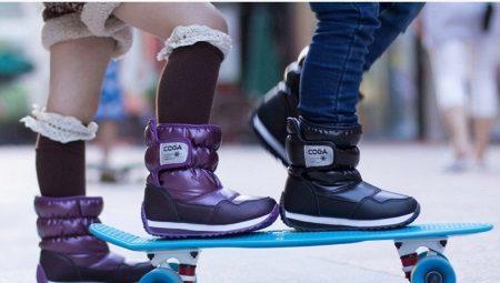 83ab1b6d6 Детские дутики (83 фото): зимние модели для девочек, обувь сезона ...