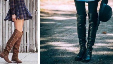 9ce61d505 Женские сапоги без каблука (70 фото): с чем носить, зимние рыжие и ...