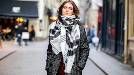 Двухцветный шарф