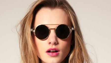 ebb6c7b2cfba Круглые солнцезащитные очки (59 фото): женские солнечные модели с ...