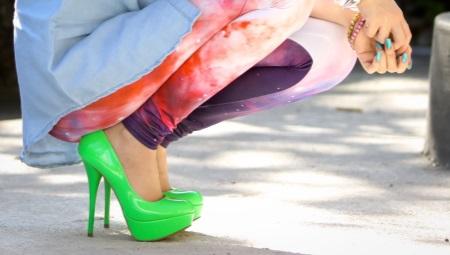 Салатовые туфли