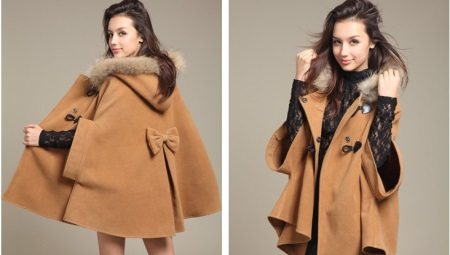 Женское пальто-манто