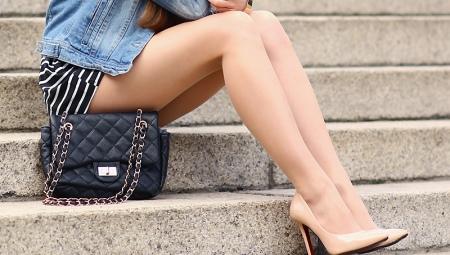 Бежевые кожаные туфли