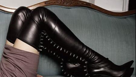 93cfed365292 Сапоги-чулки (99 фото)  с чем носить ботфорты и высокие женские ...