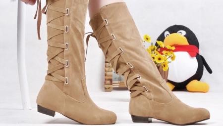 b7ea42df5d94 Сапоги на шнуровке (47 фото)  с чем носить женские зимние модели ...