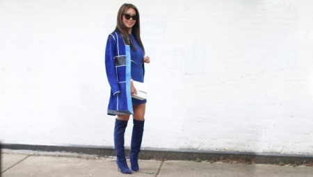 4ab11219b81 Синие сапоги (58 фото)  с чем носить женские зимние темно-синие ...