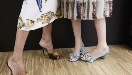 Туфли с цветами
