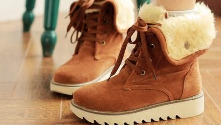 f0fb434e9 Женские зимние ботинки на толстой подошве (51 фото): модели на ...