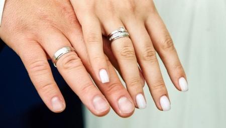 Обручальные кольца из белого золота (89 фото)  парные матовые ... 49e0fe8d37d19