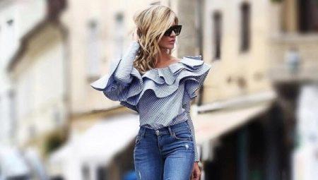 Блузка с воланами на плечах: выкройка и пошив