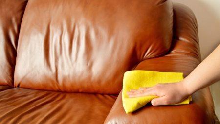 Как оттереть ручку с кожаного дивана?