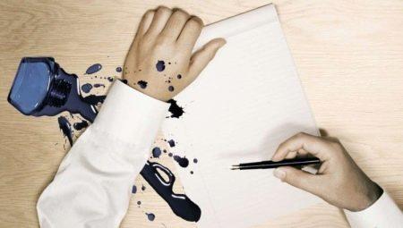 Каким средством можно оттереть чернила от ручки с одежды и мебели?