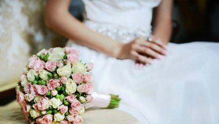 Тематические свадебные букеты фото из красных роз, букеты купить цены минске